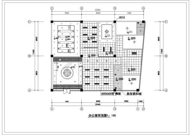 某现代潮流风格办公室室内精装修装饰设计cad全套施工图(甲级院设计)-图二