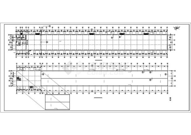 单层饼干生产厂房建筑施工CAD设计图【平立剖 楼梯 卫生间放大图 节点大样图】-图一