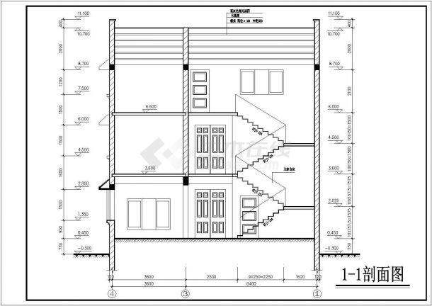 【最新】带阁楼豪华私宅专业设计方案CAD图纸-图一