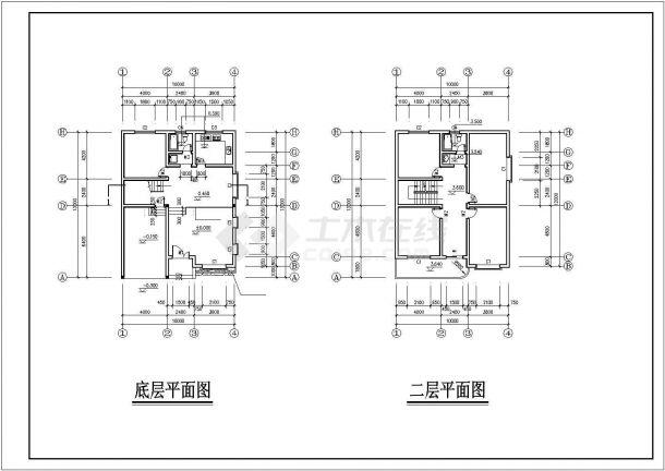 【最新】带阁楼豪华私宅专业设计方案CAD图纸-图二