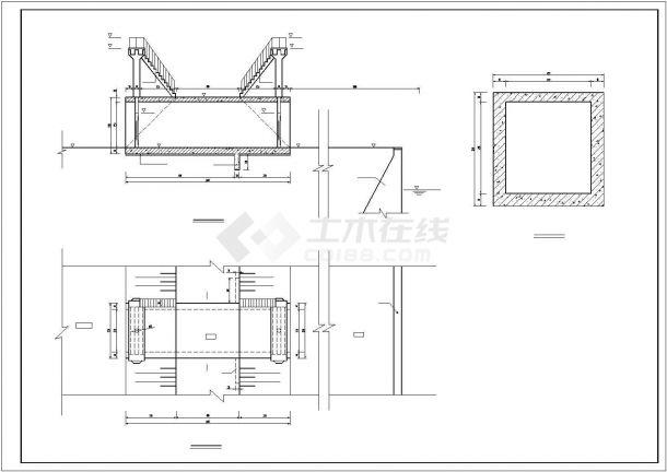 【精选】给水工程涵洞配筋设计CAD图纸-图一