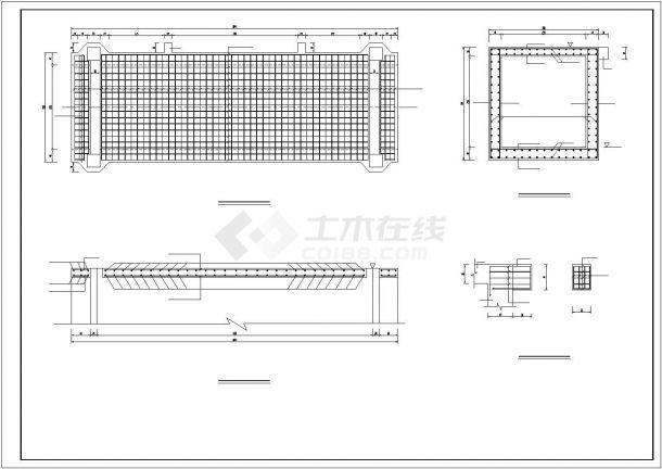 【精选】给水工程涵洞配筋设计CAD图纸-图二