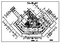 某十八层带地下层商业住宅楼电气施工cad图(含照明,火灾自动报警及消防联动控制系统设计)-图二