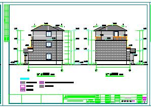 新农村两层别墅建筑设计cad图纸-图一