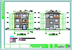 新农村两层别墅建筑设计cad图纸-图二