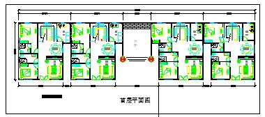 某兄弟型小农家住宅别墅建筑设计cad图纸带效果图-图二