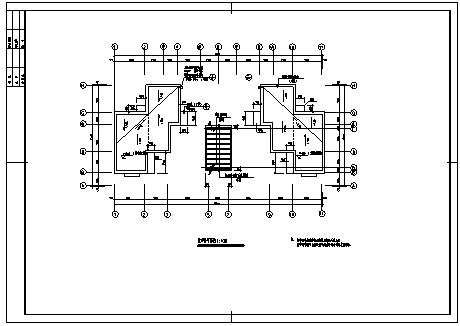 住宅设计_某跃七层框架结构带车库住宅楼建筑施工cad图纸-图一