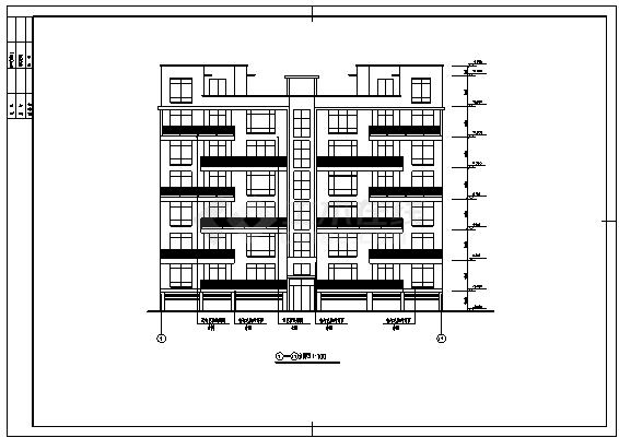 住宅设计_某跃七层框架结构带车库住宅楼建筑施工cad图纸-图二