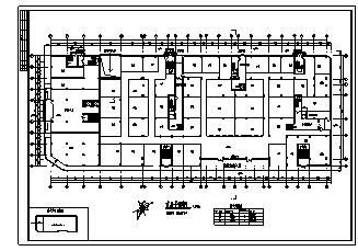 住宅楼设计_某市十二层带地下室商业住宅楼建筑施工cad图纸-图一