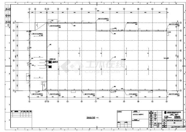某工业区商场建筑给排水设计施工CAD图纸-图一