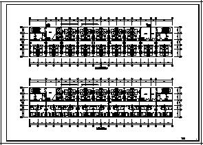 某九层带地下一层公寓电气施工cad图(含照明,火灾自动报警系统设计)-图二