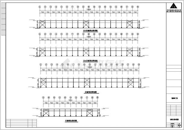 某工业区有限公司钢结构工程建筑设计施工CAD图纸-图二