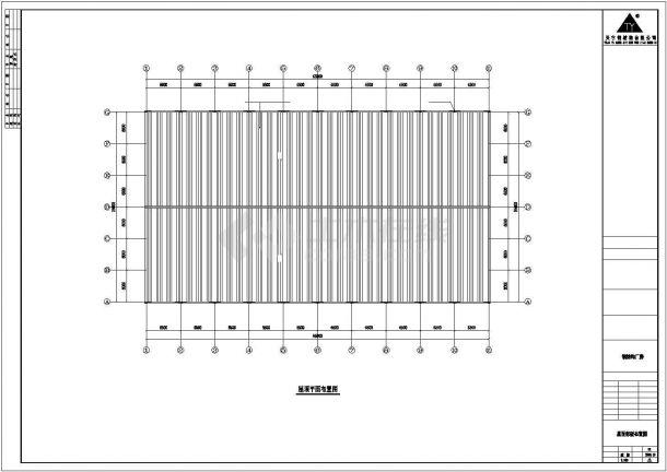 某工业区65x36米钢结构设计施工CAD图纸-图一