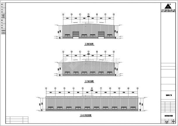 某工业区65x36米钢结构设计施工CAD图纸-图二
