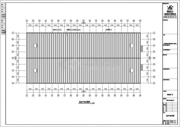 某工业区126mx56m钢结构工程设计施工CAD图纸-图一
