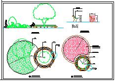 某步行街景观设计cad施工图-图二