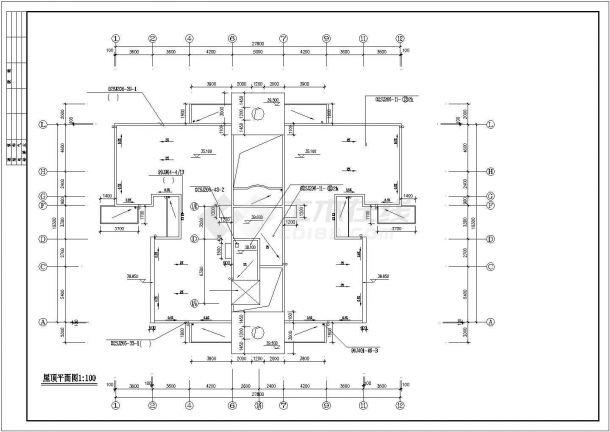 宿州市惠山花园小区11层框架结构住宅楼平面设计CAD图纸(含架空层)-图一