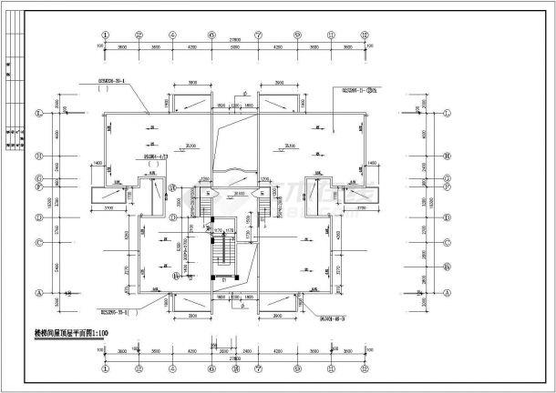 宿州市惠山花园小区11层框架结构住宅楼平面设计CAD图纸(含架空层)-图二