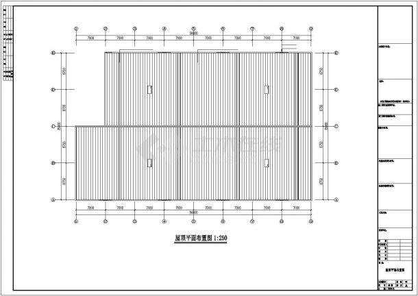 某工业区立丰公司二期钢结构工程设计施工CAD图纸-图二