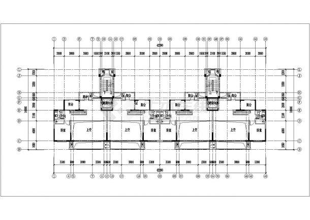 苏州市石斛兰苑小区7+1层砖混结构住宅楼平面设计CAD图纸(含跃层)-图一