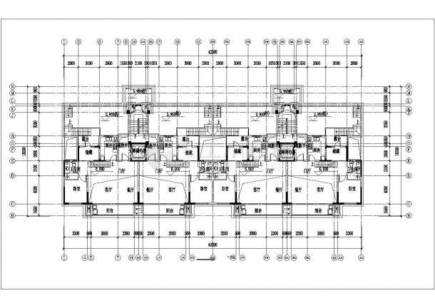 苏州市石斛兰苑小区7+1层砖混结构住宅楼平面设计CAD图纸(含跃层)-图二