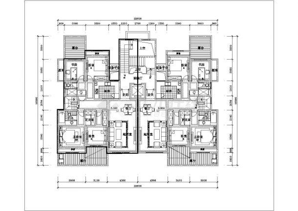 合肥欣冉花园小区6层砖混结构住宅楼全套平面设计CAD图纸(含跃层)-图一