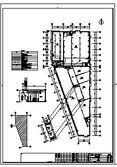 某单层带地下一层动力站电气施工cad图(含配电,照明,消防设计)-图一