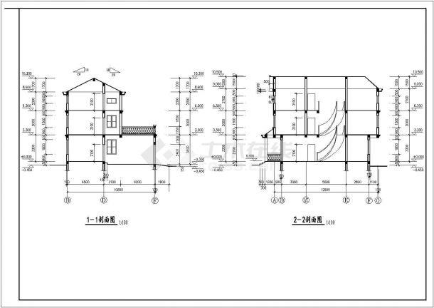新疆私宅设计建筑底商私人住宅楼设计CAD详细建筑施工图-图一