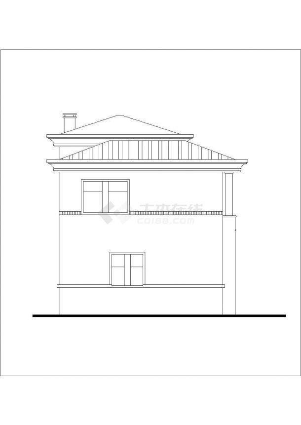 240平米左右3层砖混结构单体别墅全套建筑CAD设计图纸-图一