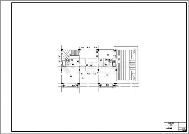 240平米左右3层砖混结构单体别墅全套建筑CAD设计图纸-图二