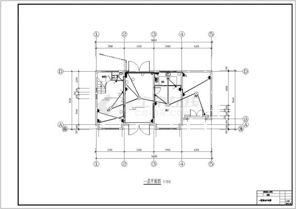汉中市某村镇240平米2层混合结构乡村别墅电气系统CAD设计图纸-图一