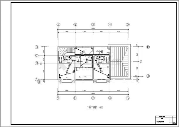 汉中市某村镇240平米2层混合结构乡村别墅电气系统CAD设计图纸-图二
