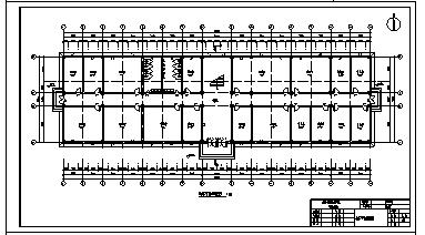 某地五层钢筋混凝土框架结构办公楼建筑施工cad图(含计算书,毕业设计)-图二