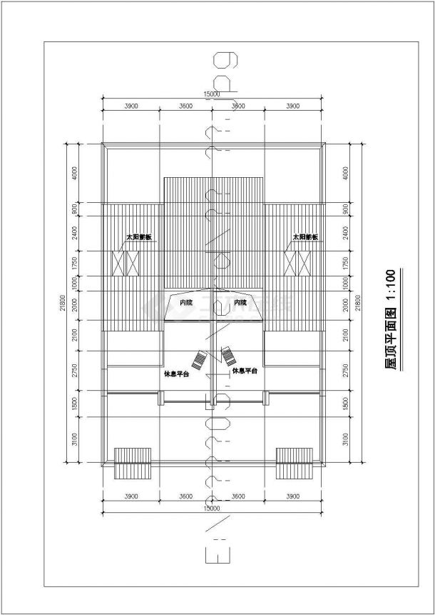 常州市荷丽家园小区三层砖混结构双拼别墅建筑设计CAD图纸(3套方案)-图一