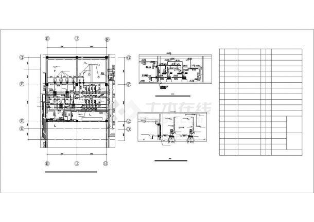 河南某二十四层高层办公楼给排水CAD设计图-图二