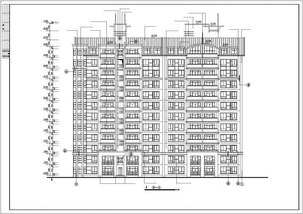 武汉市御江花园小区11+1层框混结构住宅楼平立剖面设计CAD图纸-图一