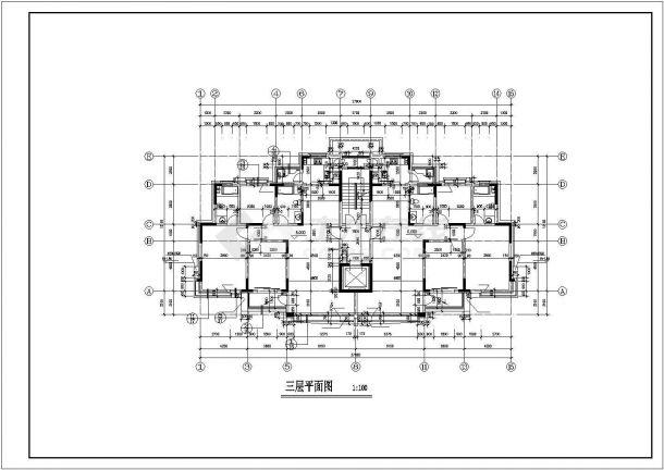 西安市万科花园小区11层框混结构公寓楼建筑设计CAD图纸(含跃层)-图二