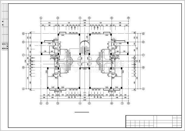 苏州市二巷新村小区6层砖混结构住宅楼全套建筑设计CAD图纸-图二