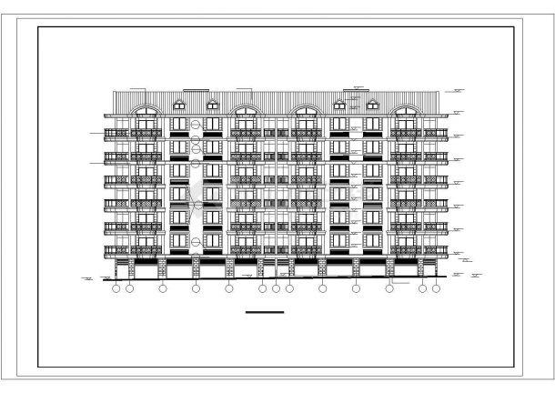 抚顺沁林花园小区3040平6层砖混结构住宅楼建筑设计CAD图纸(含阁楼)-图二