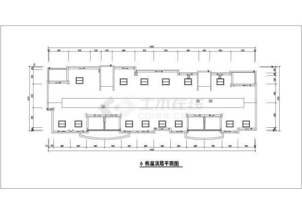 郑州凯馨花园小区8层砖混结构住宅楼建筑设计CAD图纸(含阁楼和架空层)-图一