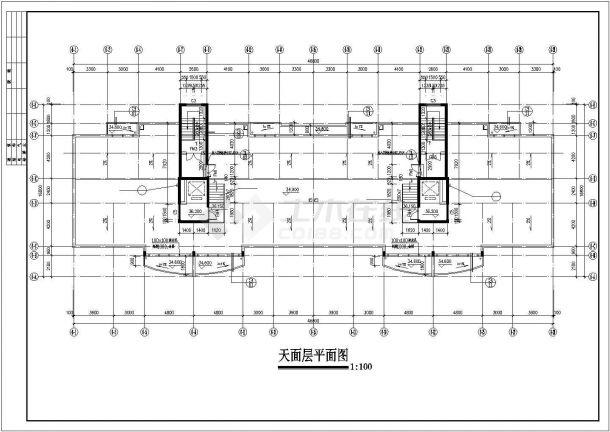 合肥鼎阳家园小区12层框架结构住宅楼建筑设计CAD图纸(含天面和架空层)-图二