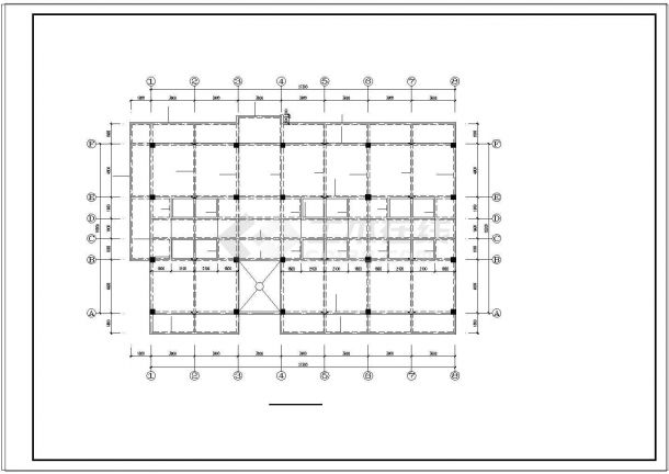 某五层办公楼混凝土框架结构结构cad施工图纸-图一