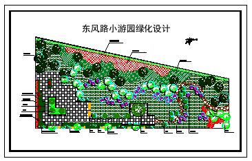某小游园绿化设计cad平面施工图-图一