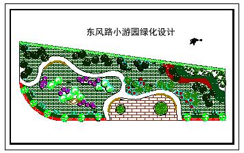 某小游园绿化设计cad平面施工图-图二