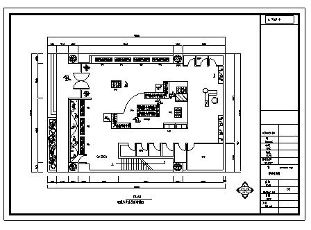 某服装专卖店室内装饰设计cad图(含工程量计算式)-图一