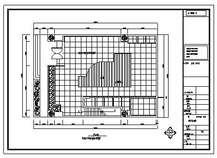 某服装专卖店室内装饰设计cad图(含工程量计算式)-图二