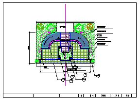 某小型广场全套景观设计cad施工图-图二