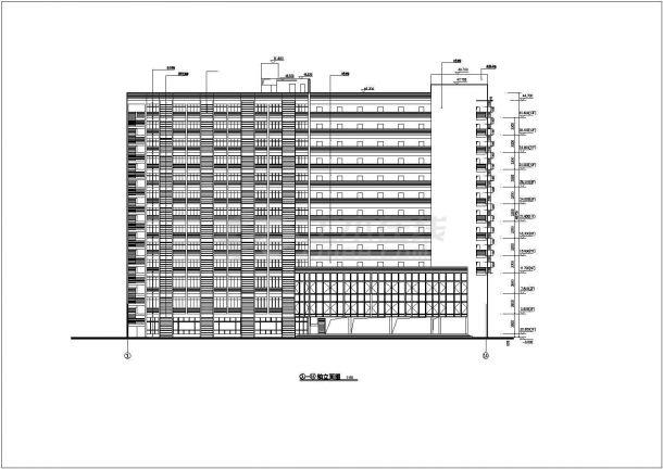 北京市朝阳区某沿街13层框架结构住宅楼全套建筑结构设计CAD图纸-图二