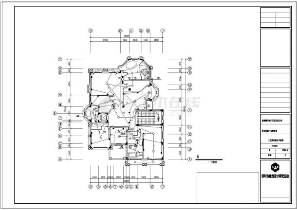 某别墅建筑结构水电设计CAD施工图纸-图一