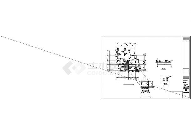 某两层别墅建筑结构水电全套设计CAD施工图-图一